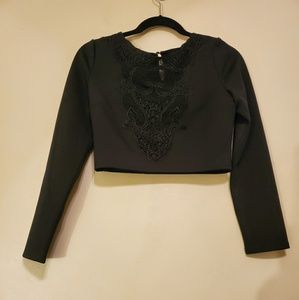 Express Cropped Long Sleeves Top